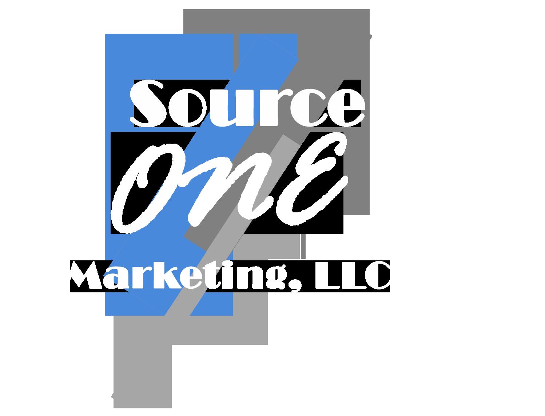 Source One Logo White Bright